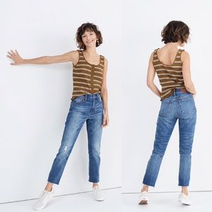Madewell The High-Rise Slim Boyjean in Dover Wash